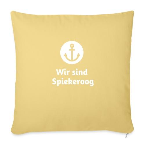 Wir sind Spiekeroog Logo weiss - Sofakissen mit Füllung 44 x 44 cm