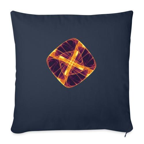 Chakra Mandala Mantra OM Chaos Star Circle 12255i - Sofa pillow with filling 45cm x 45cm
