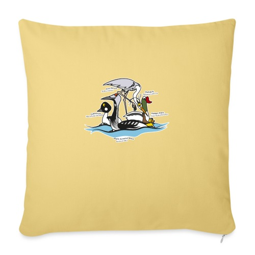 Birds of a Feather - Sofa pillow with filling 45cm x 45cm