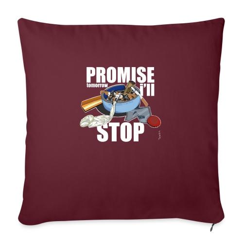 Resolutions - Promise, tomorrow i'll stop - Coussin et housse de 45 x 45 cm