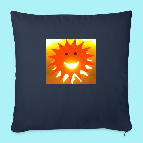 Soleil Souriant - Coussin et housse de 45 x 45 cm
