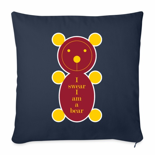 I swear I am a bear 001 - Bankkussen met vulling 44 x 44 cm