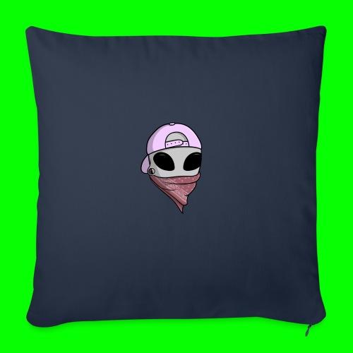 gangsta alien logo - Cuscino da divano 44 x 44 cm con riempimento