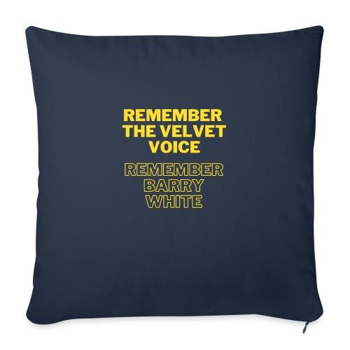 Remember the Velvet Voice, Barry White - Sofa pillow with filling 45cm x 45cm
