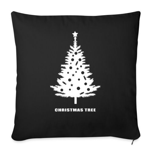 christmas tree, christmas, new year, rockefeller - Sofa pillow with filling 45cm x 45cm
