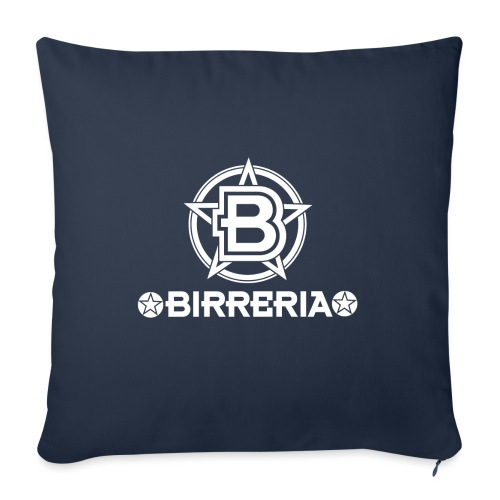 Logo Birreria 2021 white - Sofakissen mit Füllung 44 x 44 cm