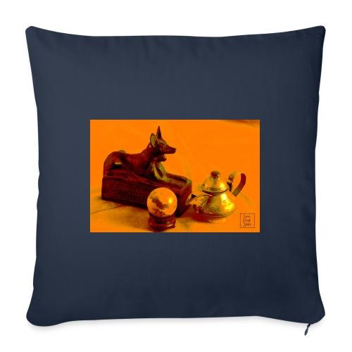 Anubi nel deserto - Cuscino da divano 44 x 44 cm con riempimento