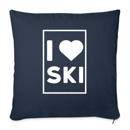 I love ski - Coussin et housse de 45 x 45 cm