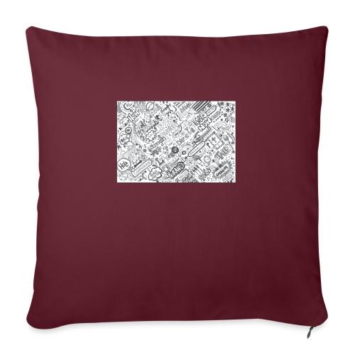 Doodle - Poduszka na kanapę z wkładem 44 x 44 cm