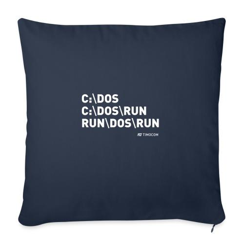 Run DOS Run - Sofapude med fyld 44 x 44 cm