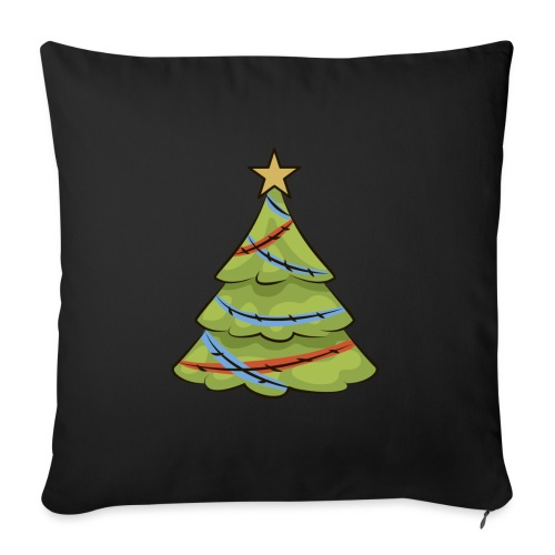 Christmas tree, tree, christmas, new year - Sofa pillow with filling 45cm x 45cm