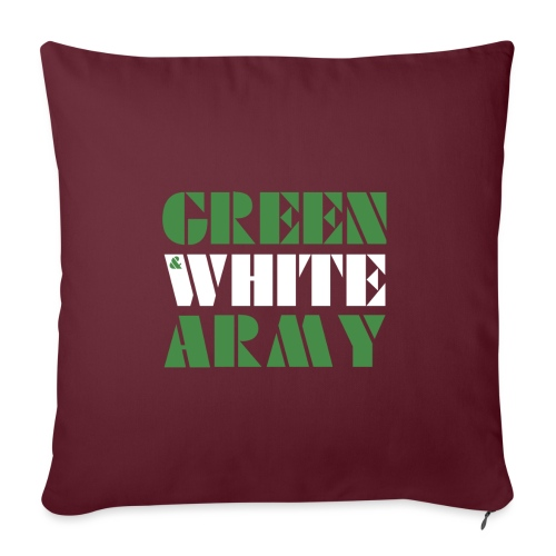 GREEN & WHITE ARMY - Sofa pillow with filling 45cm x 45cm