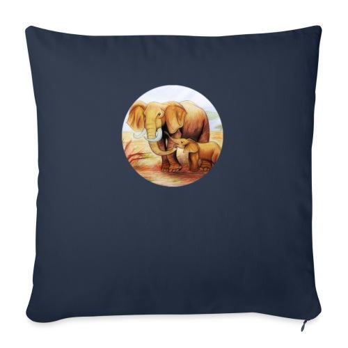 Elephants in Africa - Cojín de sofá con relleno 44 x 44 cm