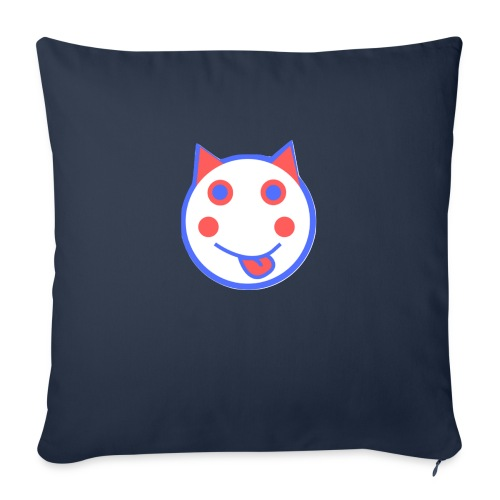 Red White And Blue - Alf Da Cat - Sofa pillow with filling 45cm x 45cm