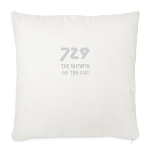 729 grande grigio - Cuscino da divano 44 x 44 cm con riempimento