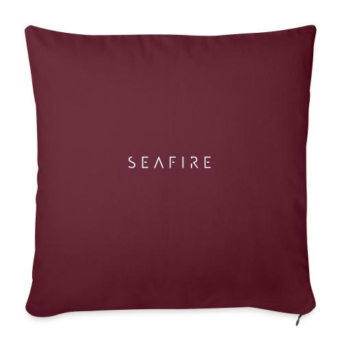 Seafire logo WHITE - Bankkussen met vulling 44 x 44 cm