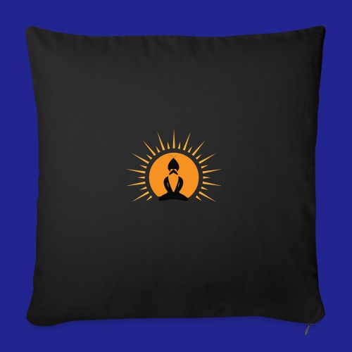 Guramylyfe logo no text black - Sofa pillow with filling 45cm x 45cm