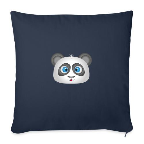 panda head / cabeza de panda 2 - Cojín de sofá con relleno 44 x 44 cm