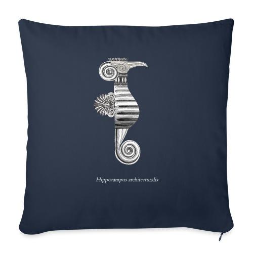 hippocampus architecturalis (épuré) - Coussin et housse de 45 x 45 cm