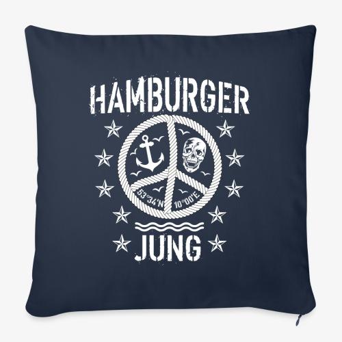 96 Hamburger Jung Peace Friedenszeichen Seil - Sofakissen mit Füllung 44 x 44 cm