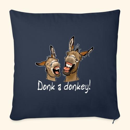 Ane Donk a donkey (texte blanc) - Coussin et housse de 45 x 45 cm