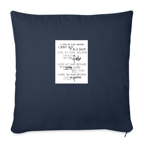 I LOVE MY HAIR - Sofa pillow with filling 45cm x 45cm