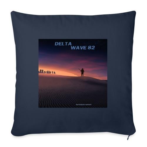Delta Wave 82 - Dystopian Sunset - Sohvatyynyt täytteellä 44 x 44 cm