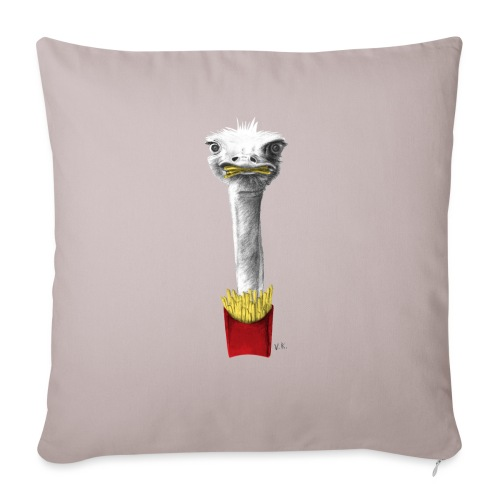 French Fries Lover - Sofa pillow with filling 45cm x 45cm