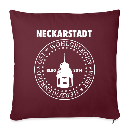 Neckarstadt – Blog seit 2014 (Logo hell) - Sofakissen mit Füllung 44 x 44 cm