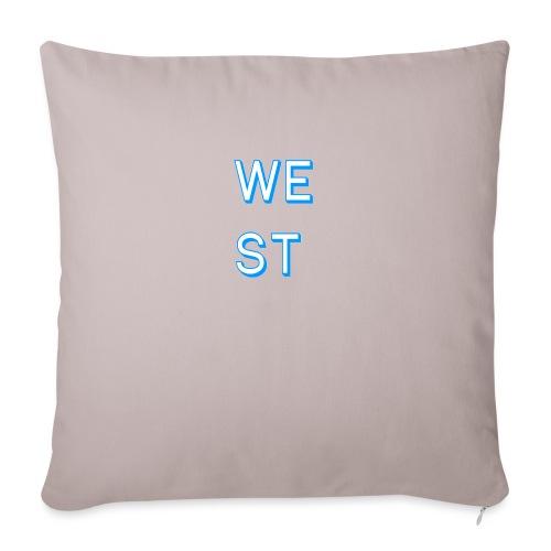WEST LOGO - Cuscino da divano 44 x 44 cm con riempimento