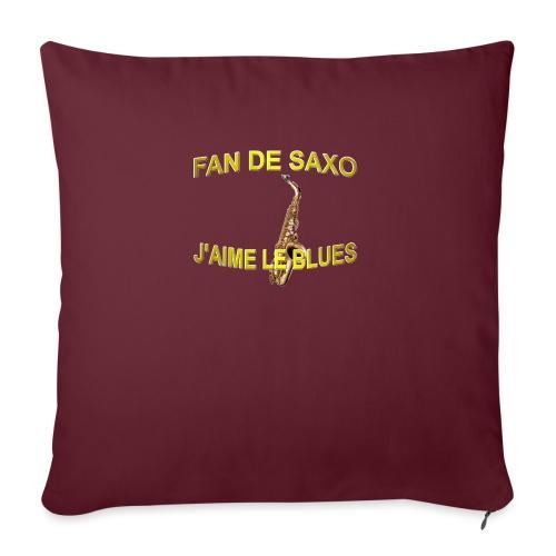 Tee-Shirt pour les fans de blues, et de saxo. - Coussin et housse de 45 x 45 cm