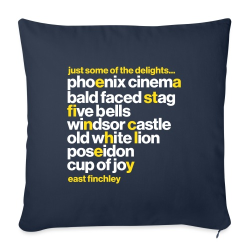 Just some of the delights of East Finchley - Sofa pillow with filling 45cm x 45cm