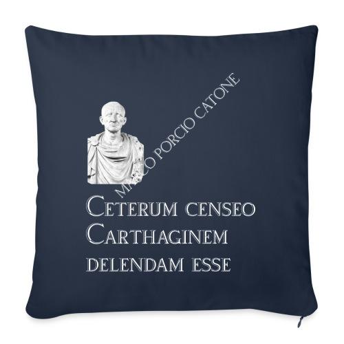 Antica Roma Cesare e Catone - Cuscino da divano 44 x 44 cm con riempimento