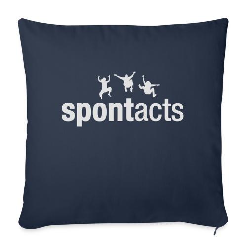 spontacts_Logo_weiss - Sofakissen mit Füllung 44 x 44 cm