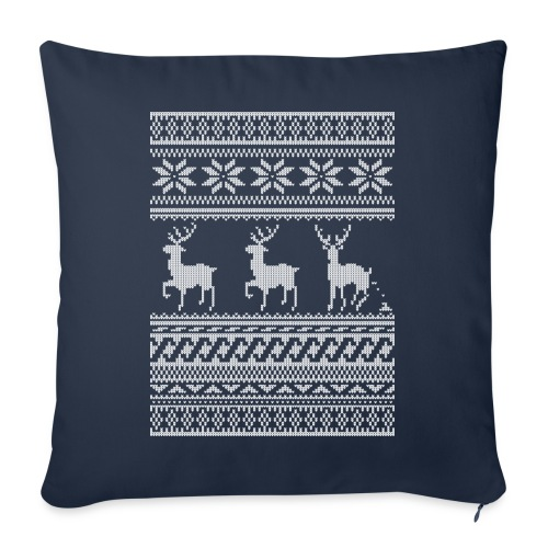 Ugly Christmas Sweater Rentier Muster (lustig) - Sofakissen mit Füllung 44 x 44 cm