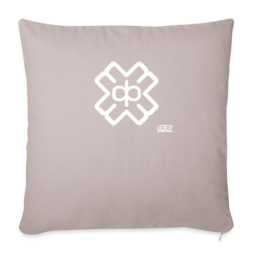 d3eplogowhite - Sofa pillow with filling 45cm x 45cm