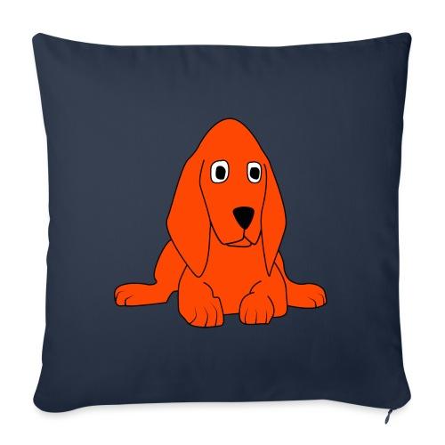 orange dog - Cuscino da divano 44 x 44 cm con riempimento