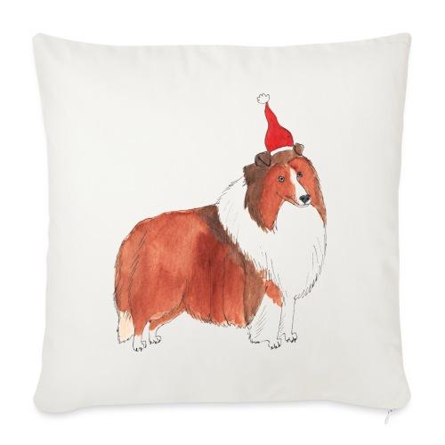 Shetland sheepdog Christmas - Sofapude med fyld 44 x 44 cm