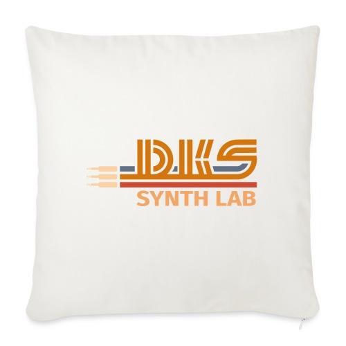 DKS SYNTH LAB Flat Orange-Orange - Cuscino da divano 44 x 44 cm con riempimento