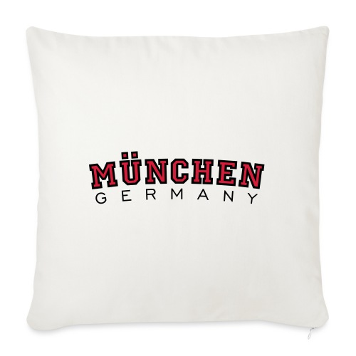 München Germany (Schwarz/Weiß) Deutschland - Sofakissen mit Füllung 44 x 44 cm