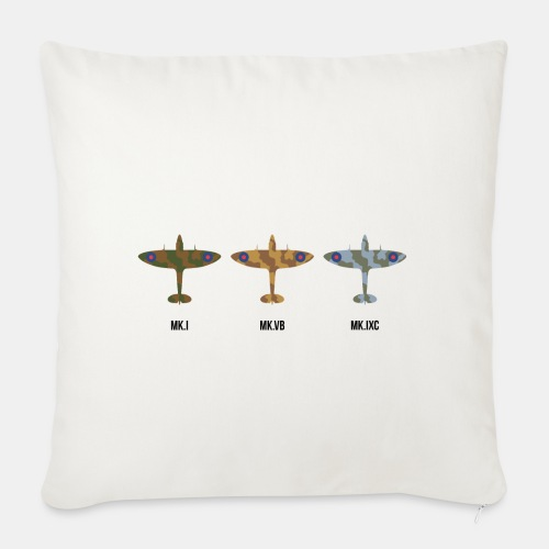 Spitfire fighter plane / camouflage pattern - Sofa pillow with filling 45cm x 45cm