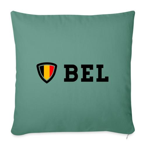 BEL Belgium Blason tricolore Football - Coussin et housse de 45 x 45 cm