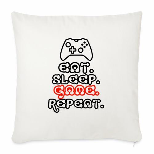 Eat. Sleep. Game. Repeat. - Sofakissen mit Füllung 44 x 44 cm