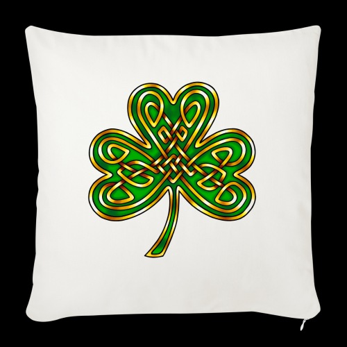 Celtic Knotwork Shamrock - Sofa pillow with filling 45cm x 45cm