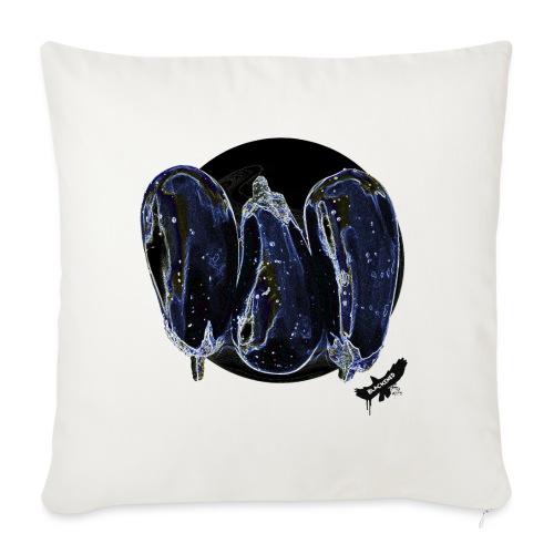 'Aubergines' by BlackenedMoonArts, w. logo - Sofapude med fyld 44 x 44 cm