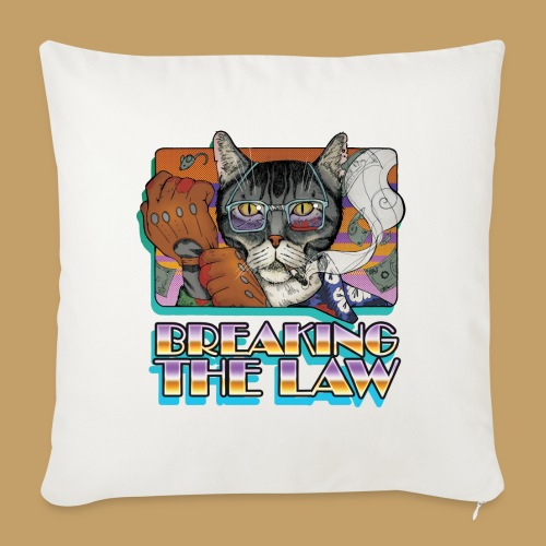 Crime Cat- Breaking the Law - Poduszka na kanapę z wkładem 44 x 44 cm
