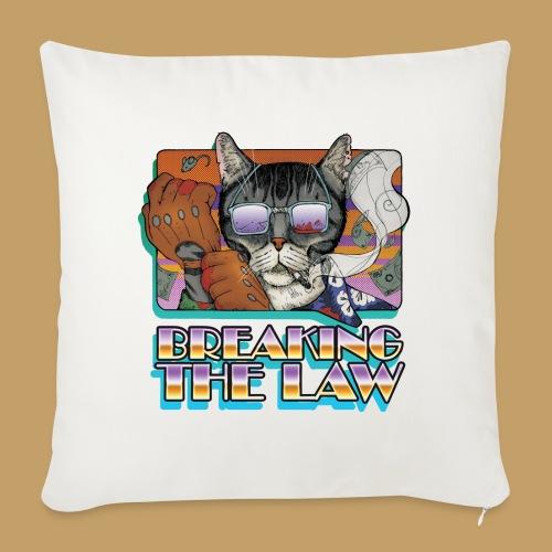 Crime Cat in Shades - Braking the Law - Poduszka na kanapę z wkładem 44 x 44 cm