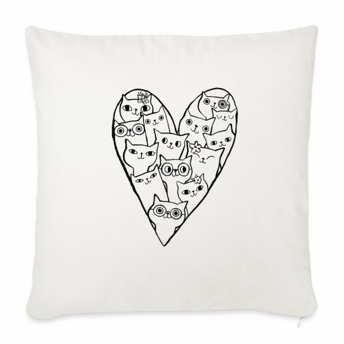 I Love Cats - Sofa pillow with filling 45cm x 45cm