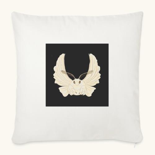 Papillon de nuit fond noir - Coussin et housse de 45 x 45 cm