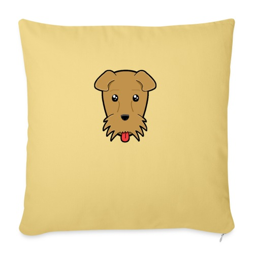 Shari the Airedale Terrier - Sofa pillow with filling 45cm x 45cm
